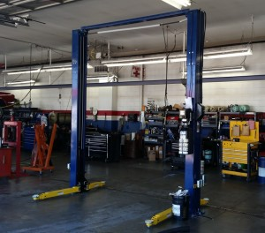New hoist allows us to work on large SUVs, work trucks