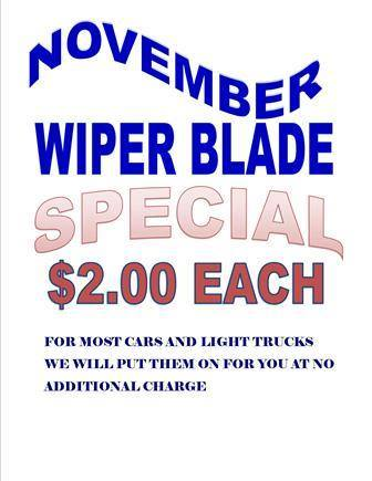 Wiper blades crucial for safety.